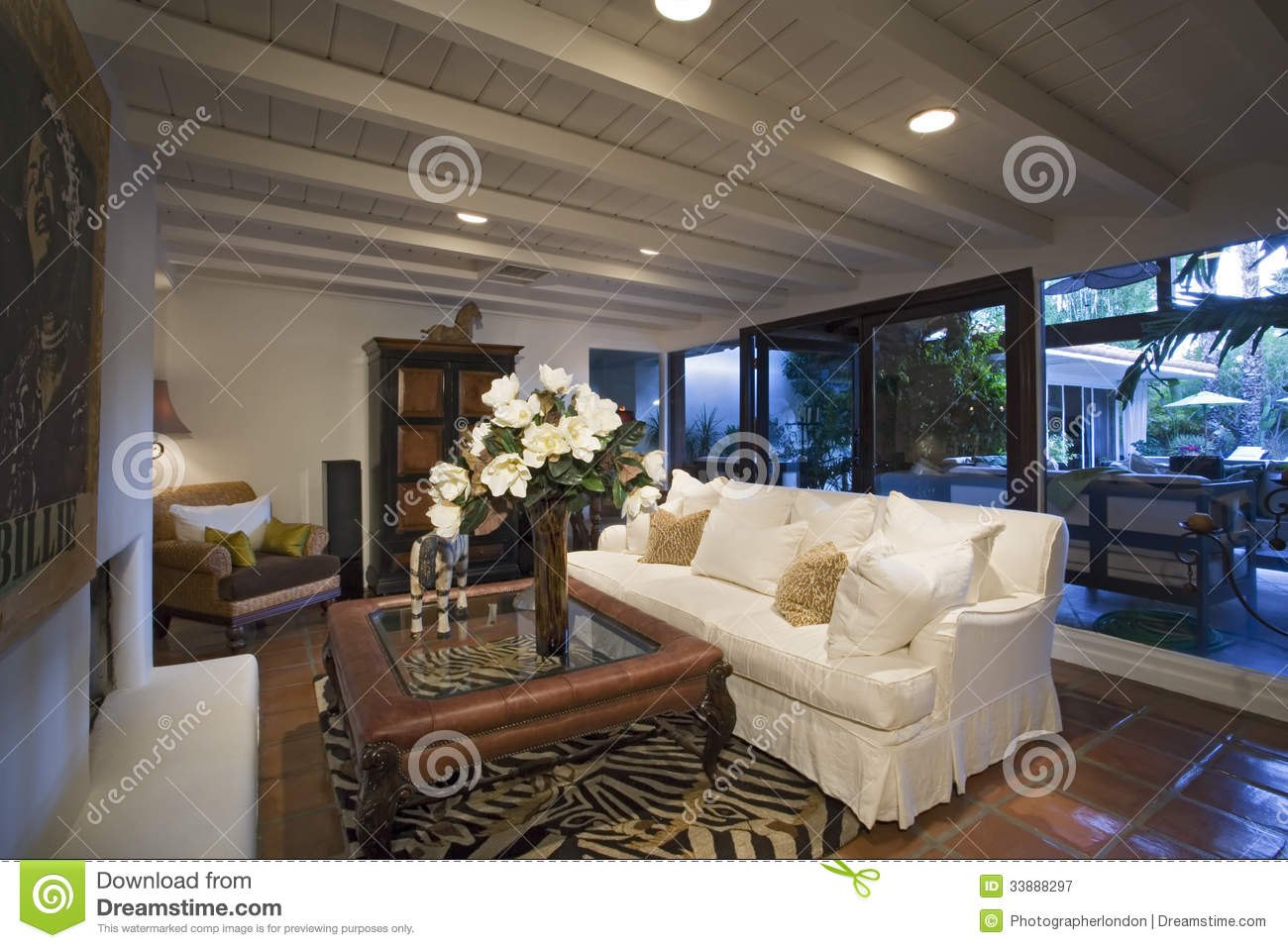 Old Fashioned Living Room In House Royalty Free Stock