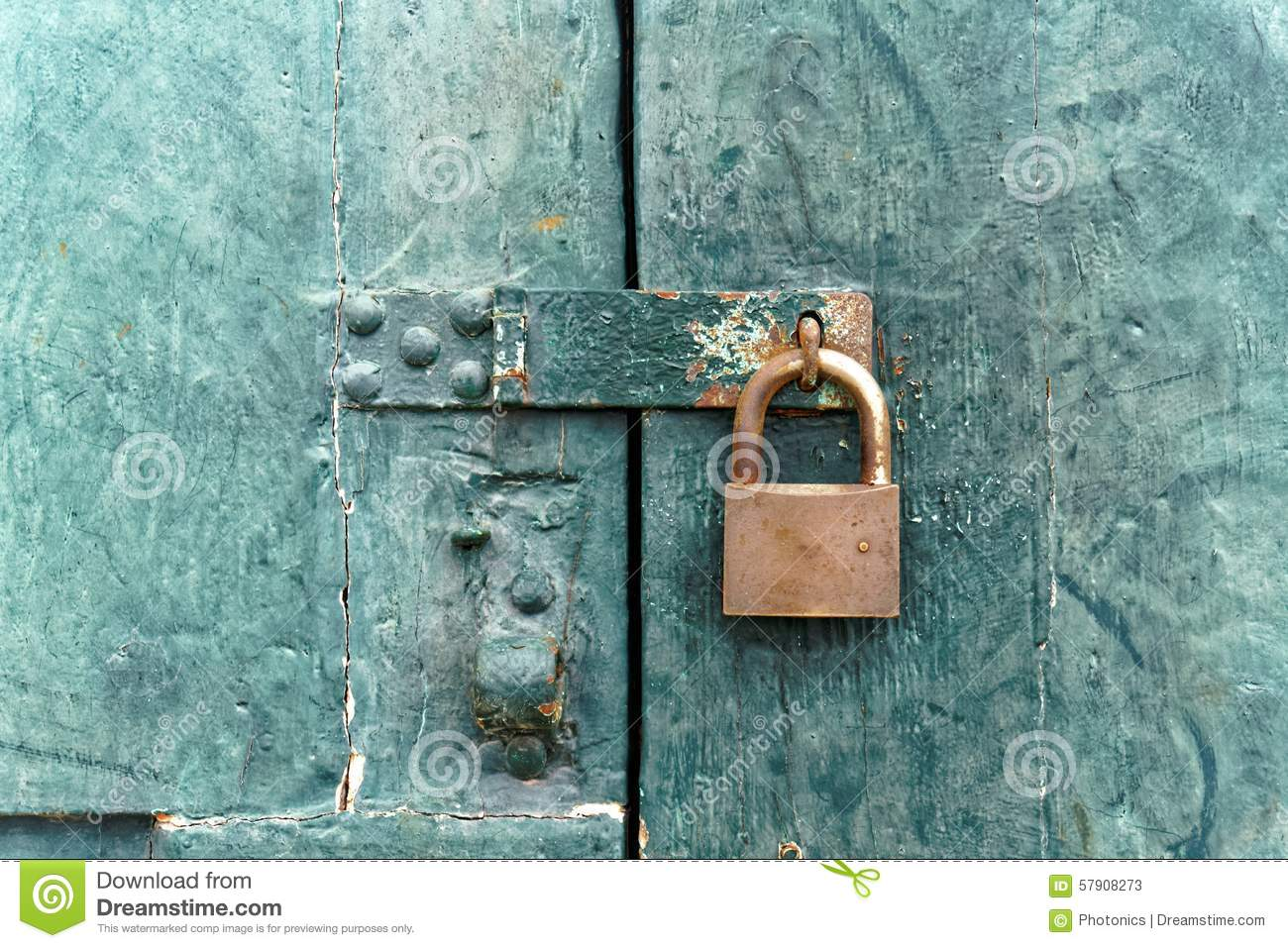 Old fashioned lock on old wooden door stock photo image - Old fashioned interior door locks ...