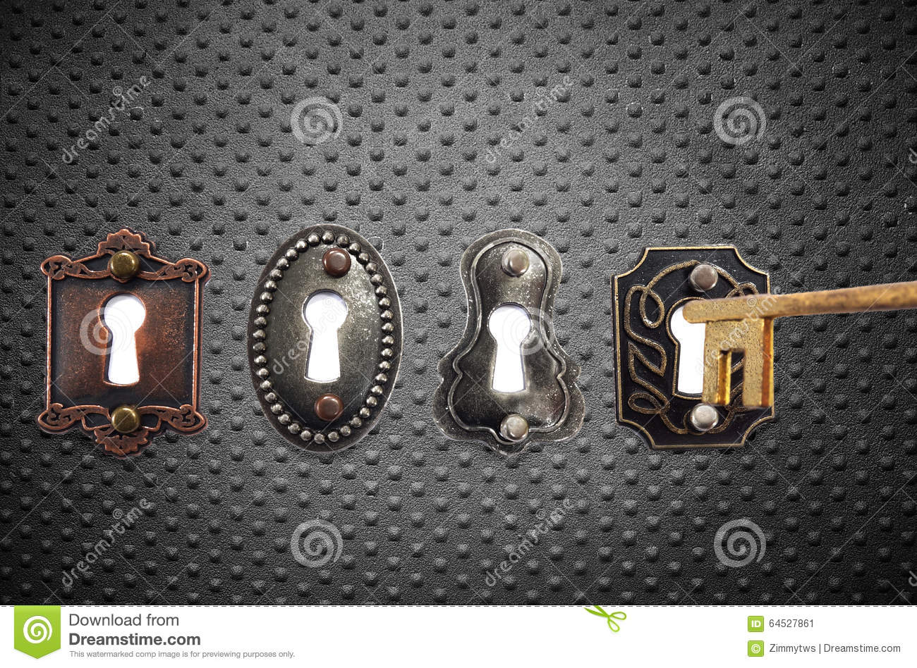 Old fashioned locks and gold key stock photo image 64527861 - Old fashioned interior door locks ...