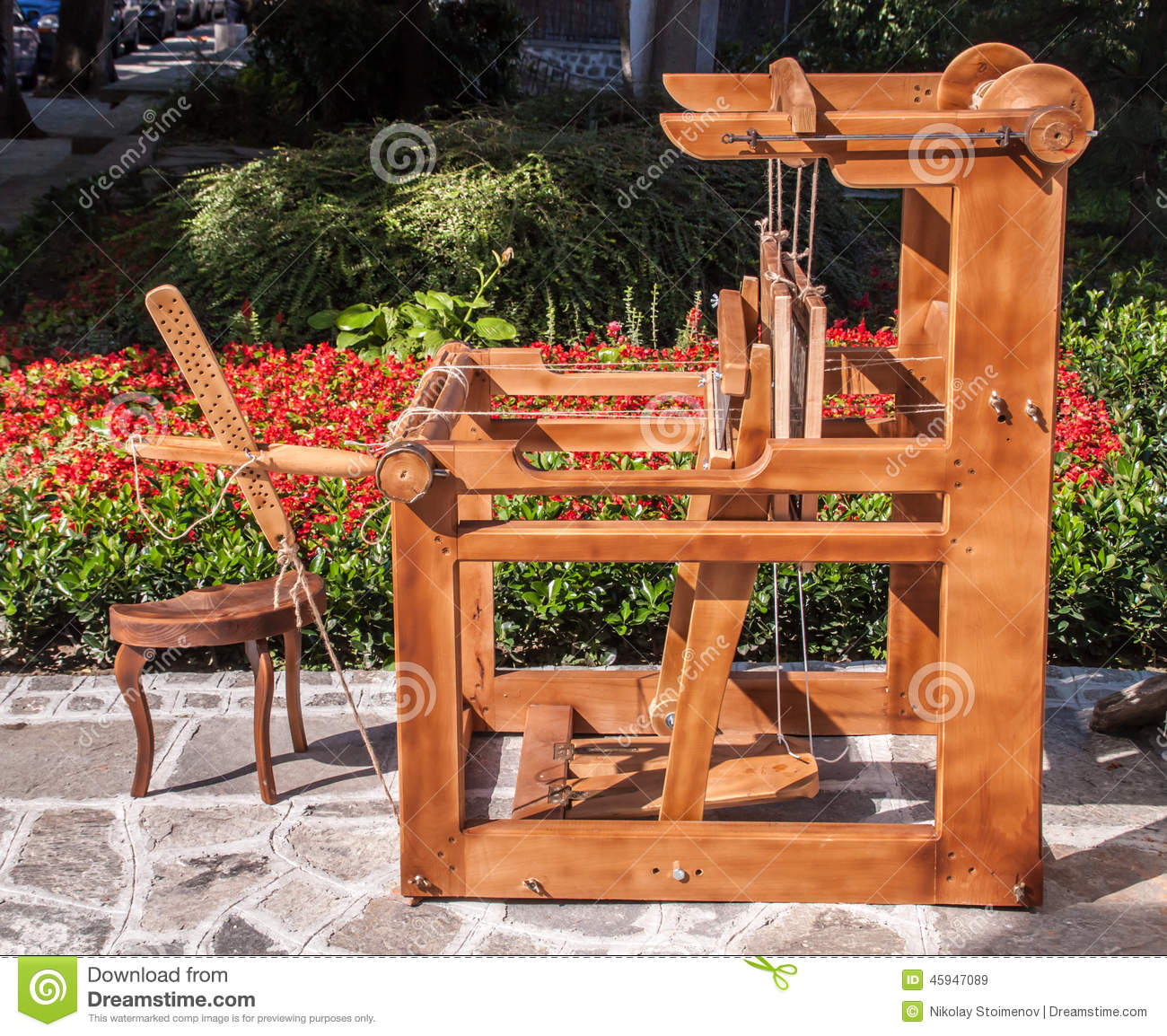 Old Fashioned Loom Stock Photo Image 45947089