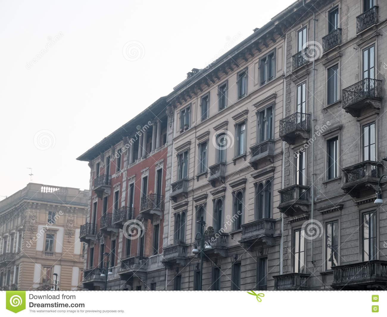 Low Rise Apartment Buildings With Small Balconies Stock Photo   Small  Apartment Buildings