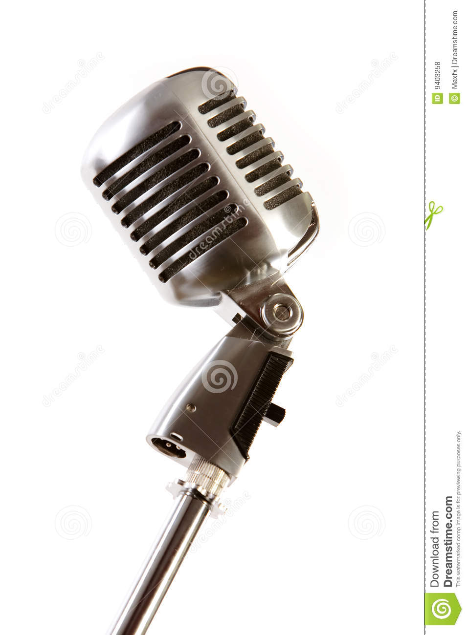 Old fashioned microphone royalty free stock photos image 9403258