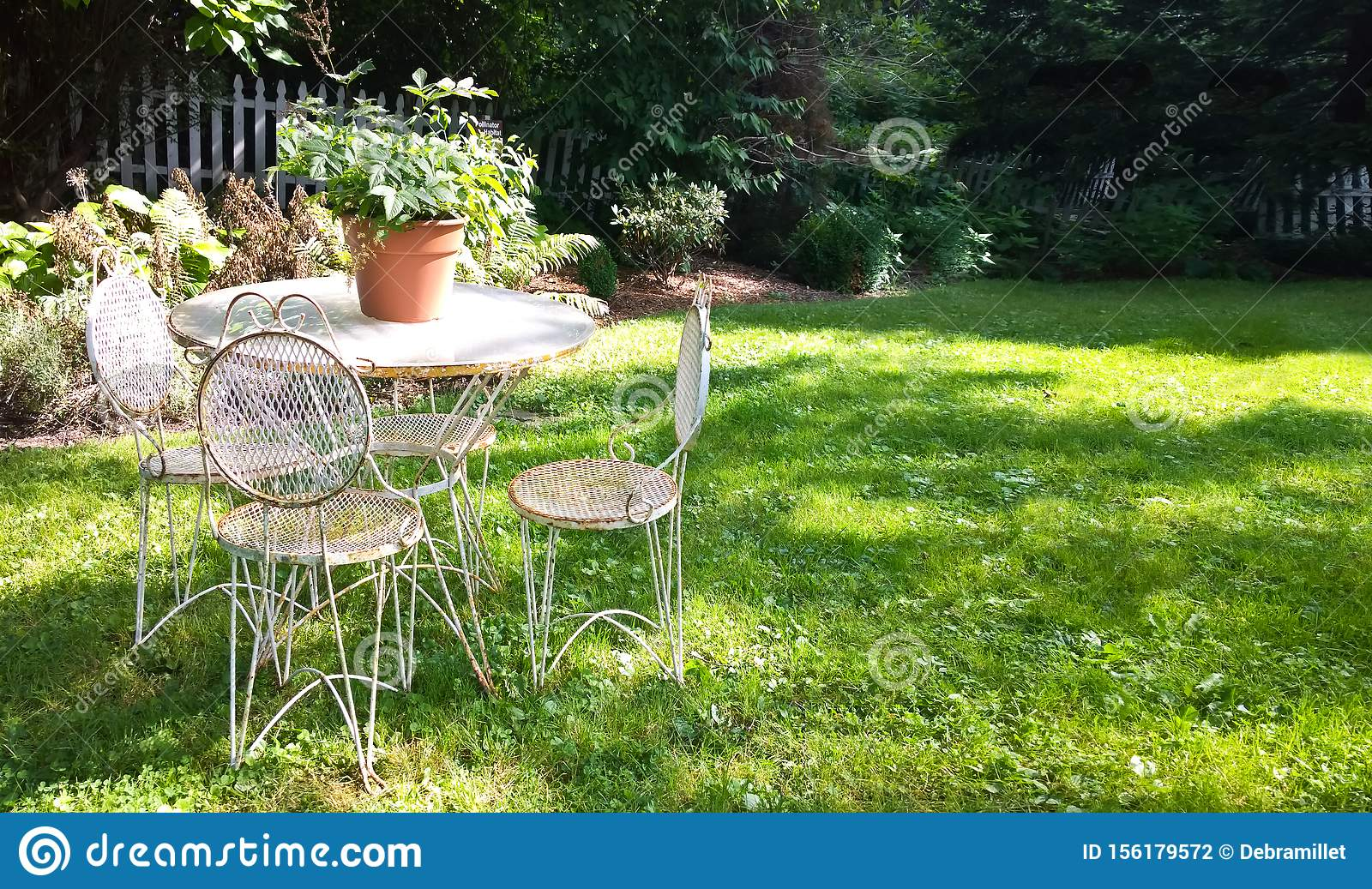 Old Fashioned Outdoor Furniture Stock Photo Image Of Charming Patio 156179572