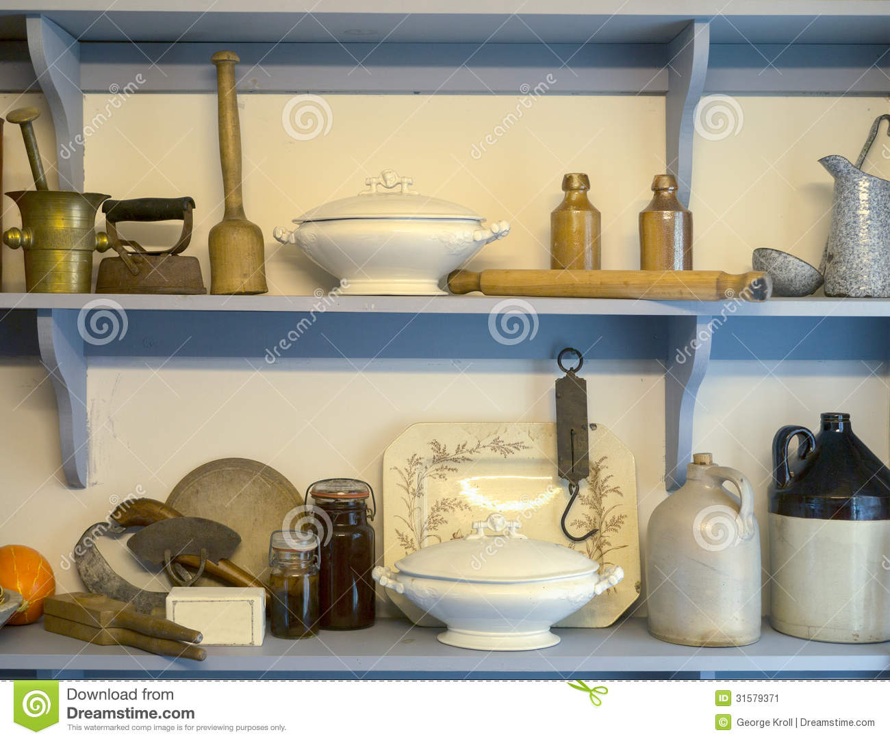 Old Fashioned Pantry Cupboard Stock Image Image 31579371