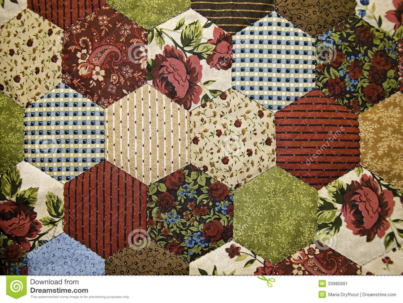 Old Fashioned Patchwork Quilt Stock Image Image 33980991