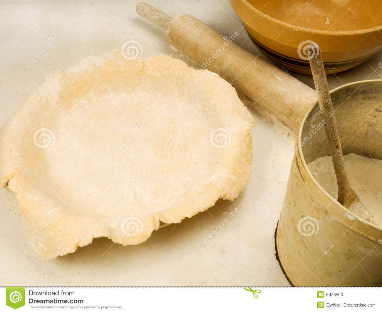Old fashioned pie baking