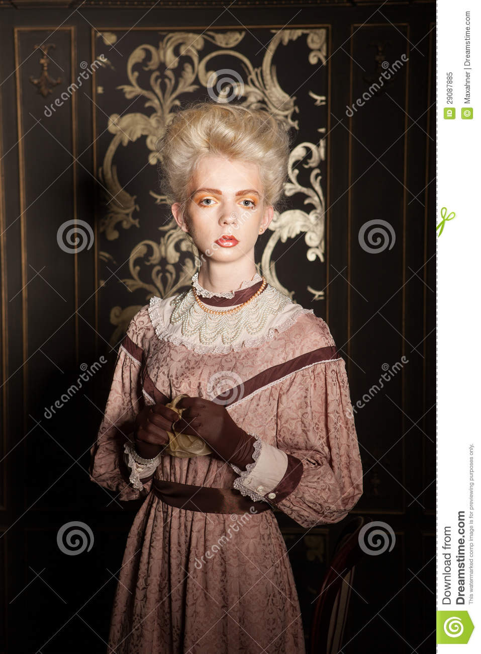 Old Fashioned Portrait Of A Guy In Women 39 S Clothing
