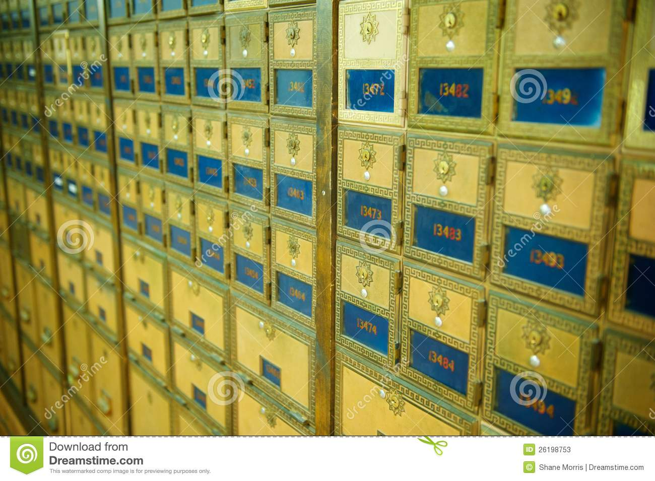 Download Old Fashioned Post Office Boxes Stock Image - Image of horizontal, mail: 26198753