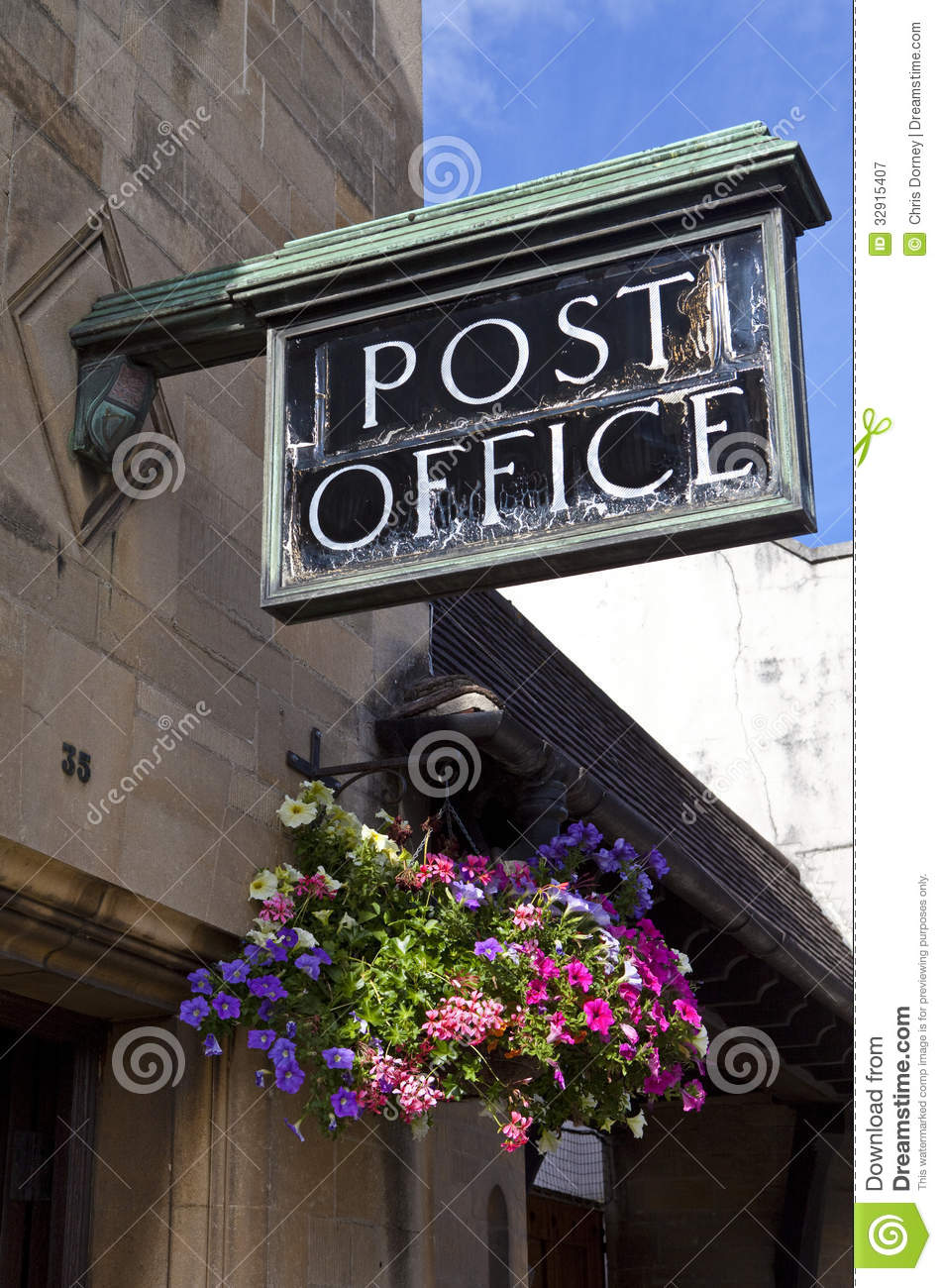 Old Fashioned Post Office Royalty Free Stock Photography
