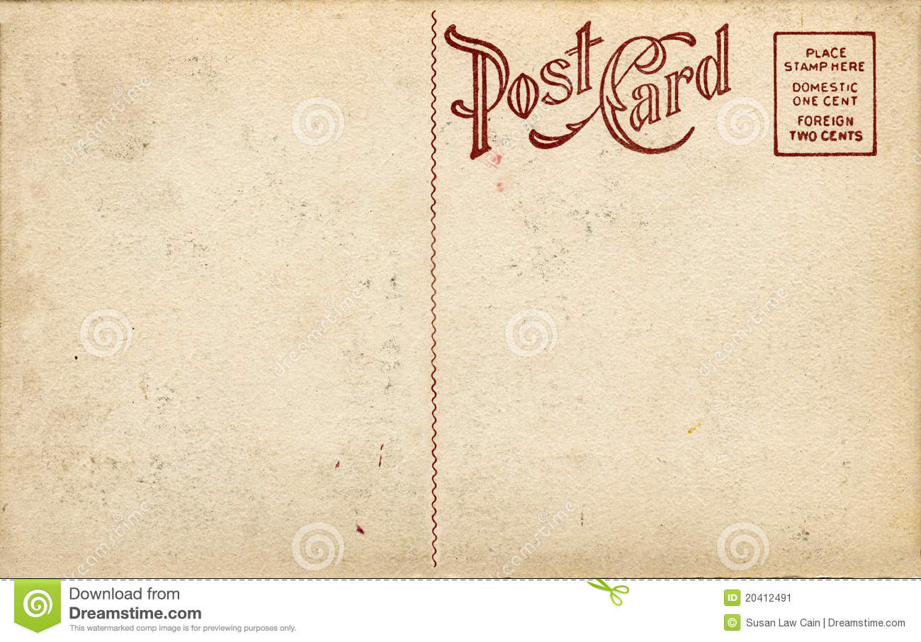 Old Fashioned Postcard Stock Image Image 20412491