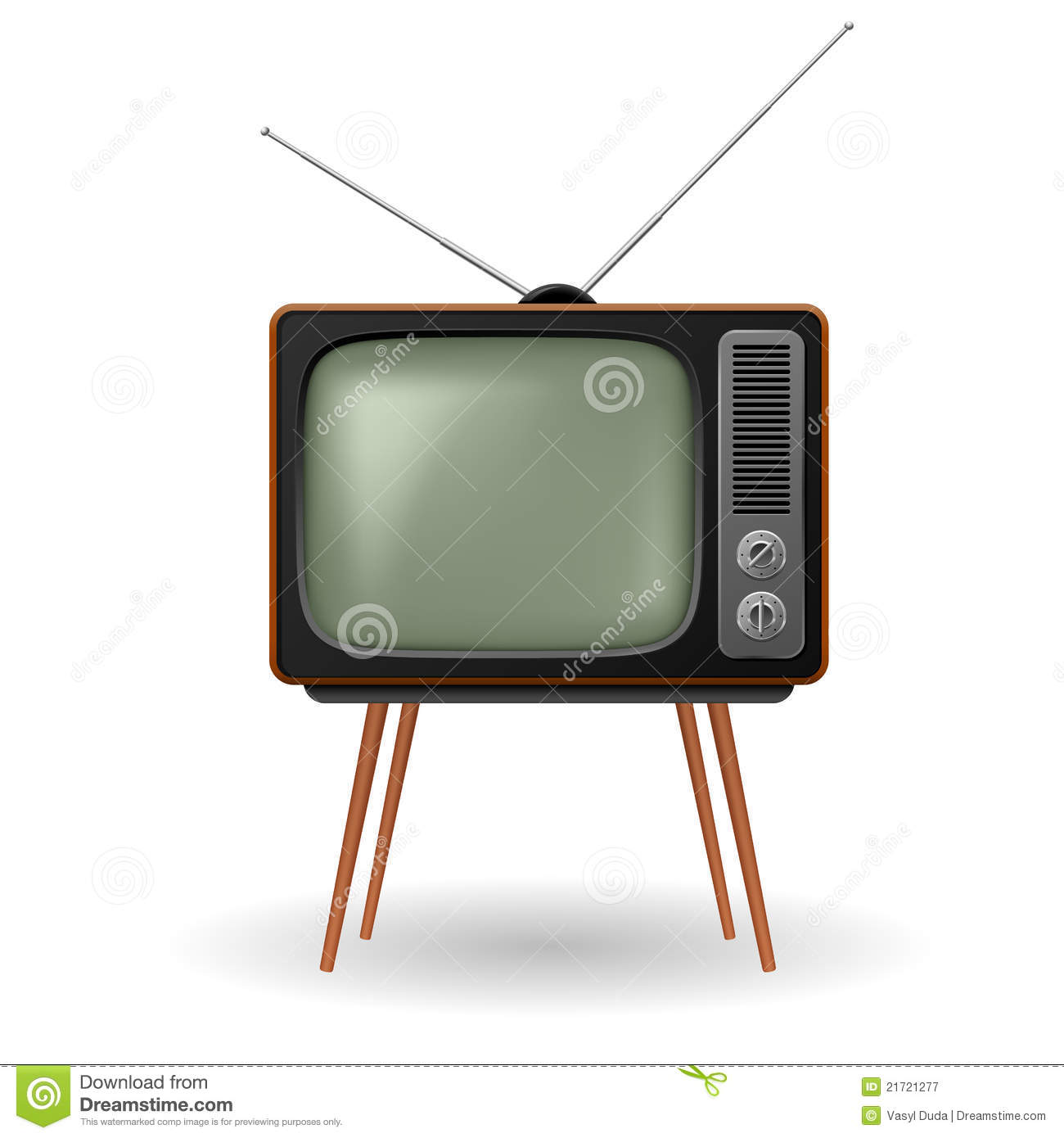 Old-fashioned Retro TV Royalty Free Stock Photography ...
