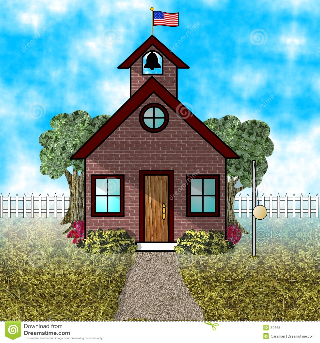 old fashioned schoolhouse royalty free stock photo - image: 50665