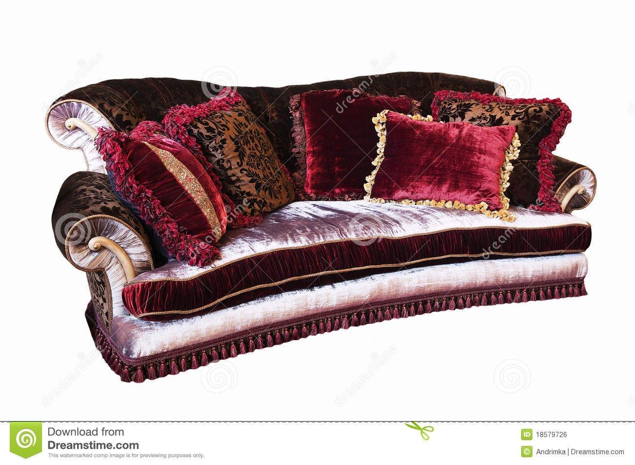Download Old Fashioned Sofa Stock Photo. Image Of Floral, Elegance    18579726