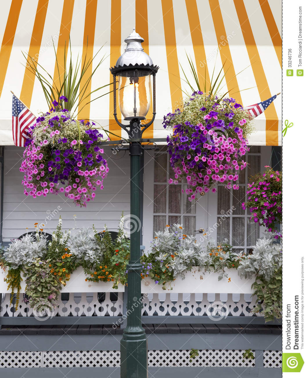 Cape May Gas Street Lamp Stock Photo Image Of Porch