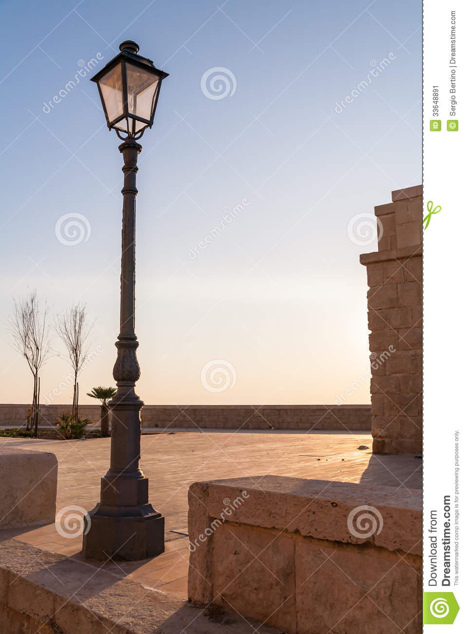 Old Fashioned Street Lamp Stock Image Image Of Background