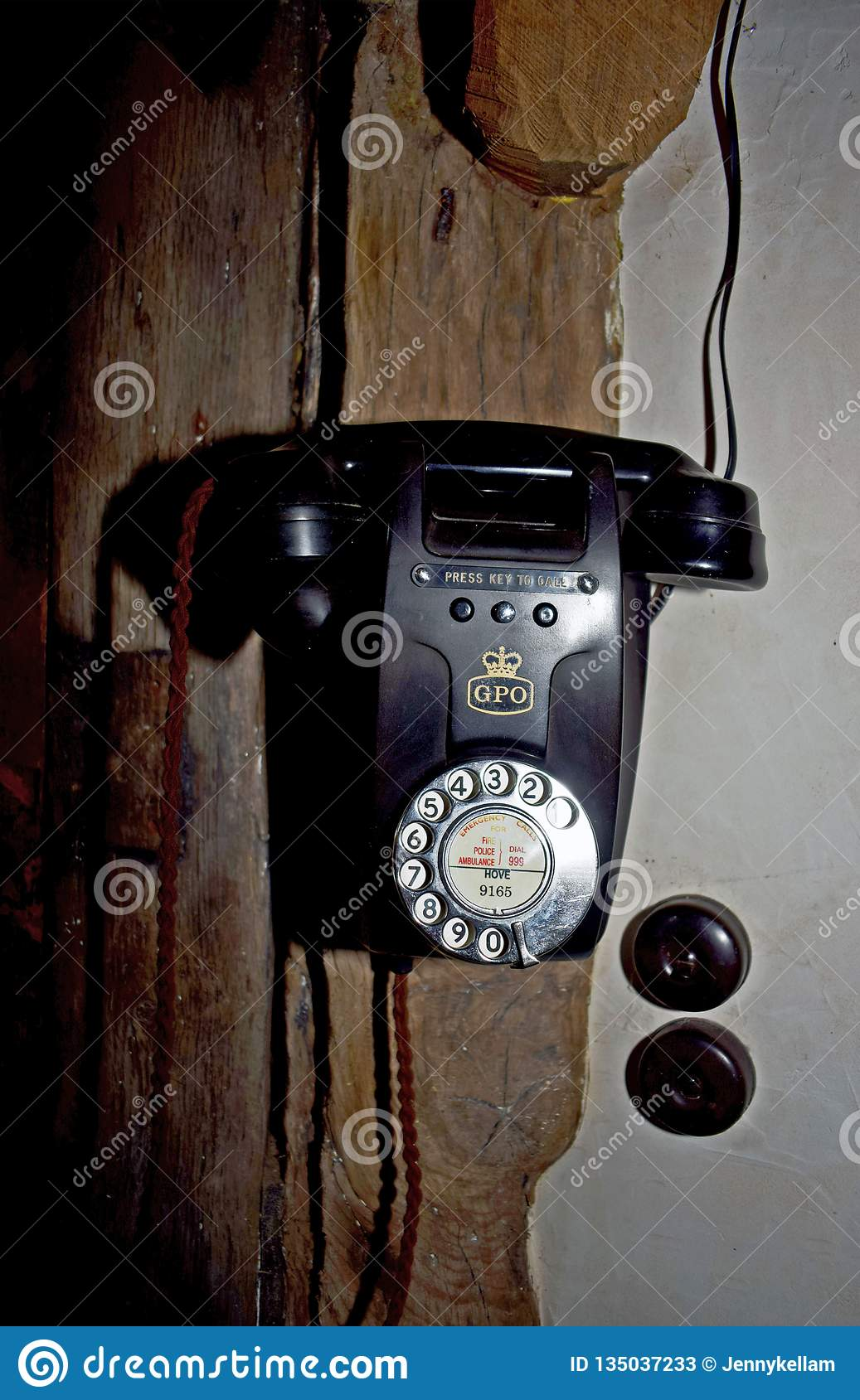 A old fashioned telephone