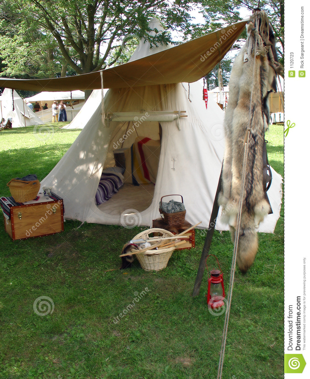 Old Fashioned Tent Stock Image Image Of Open Tent
