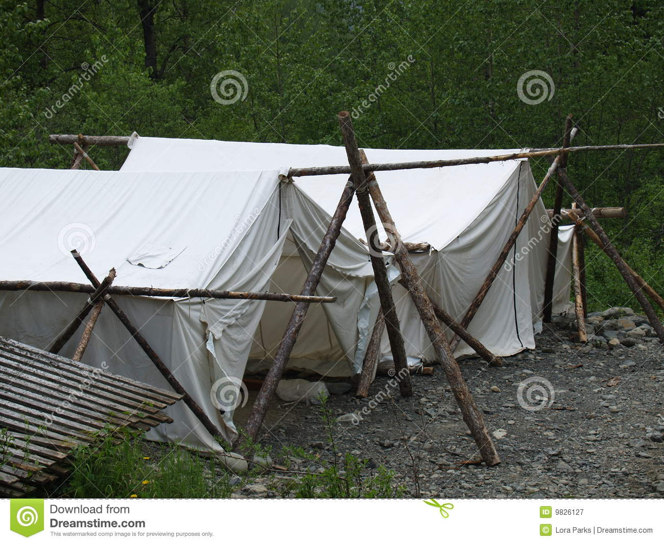 Old-Fashioned Tents & Old-Fashioned Tents stock image. Image of makeshift location - 9826127