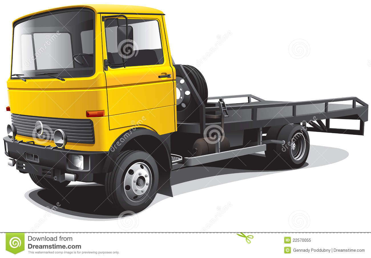 Old-fashioned tow truck stock vector. Illustration of lorry - 22570055