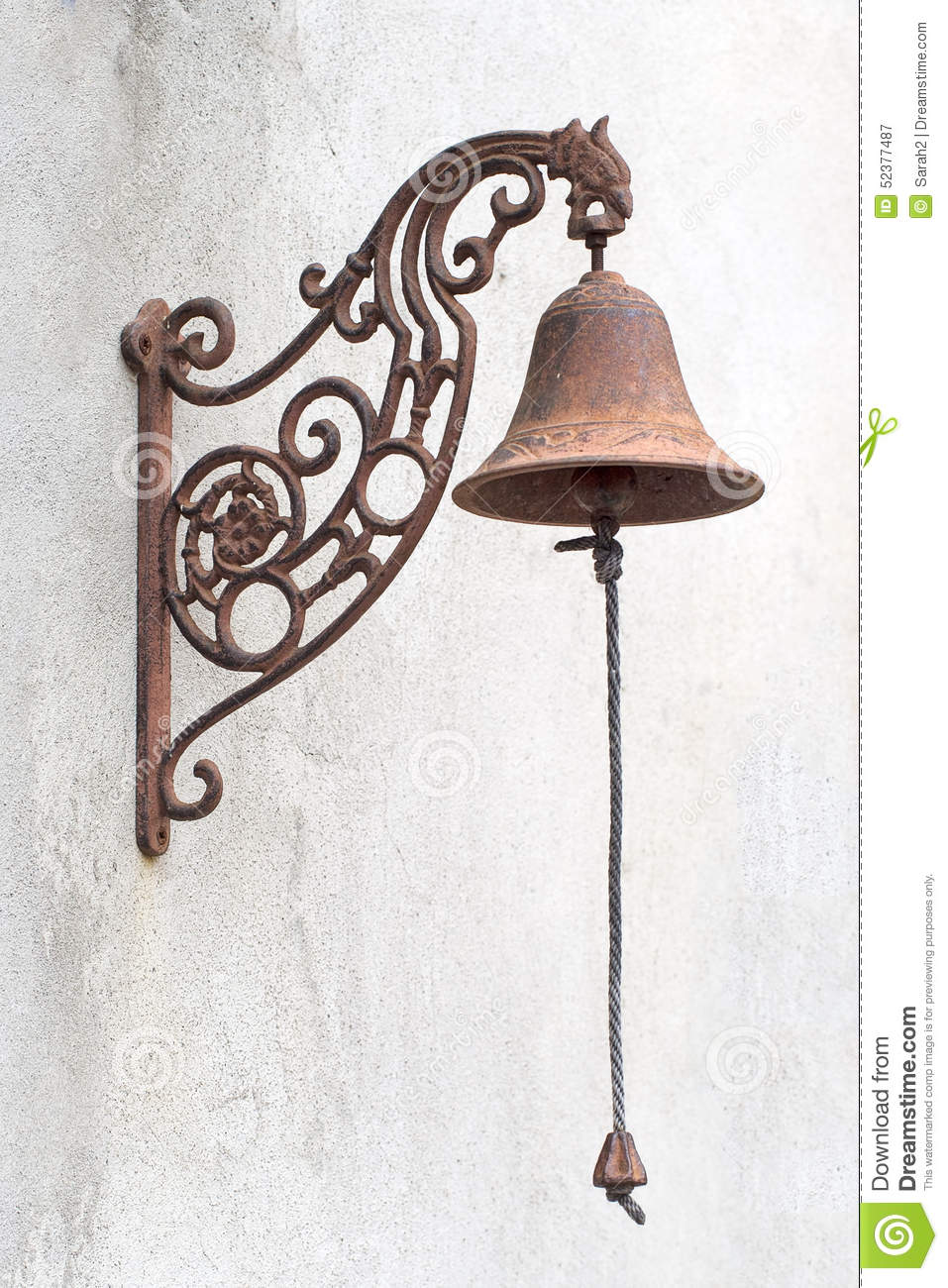 Elegant Royalty Free Stock Photo. Download Old Fashioned Vintage Doorbell ...
