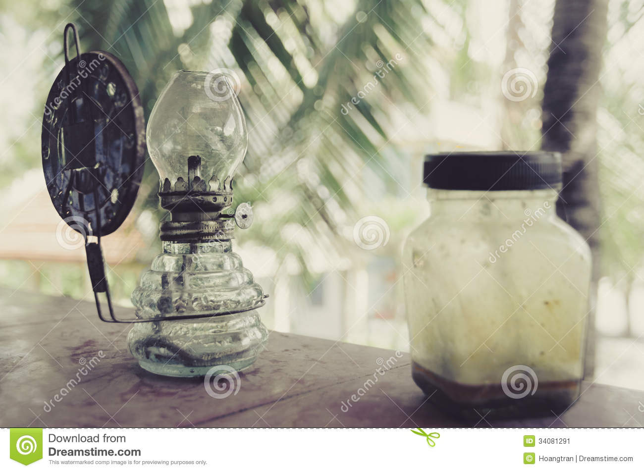 old fashioned vintage kerosene oil lamp stock image. Black Bedroom Furniture Sets. Home Design Ideas