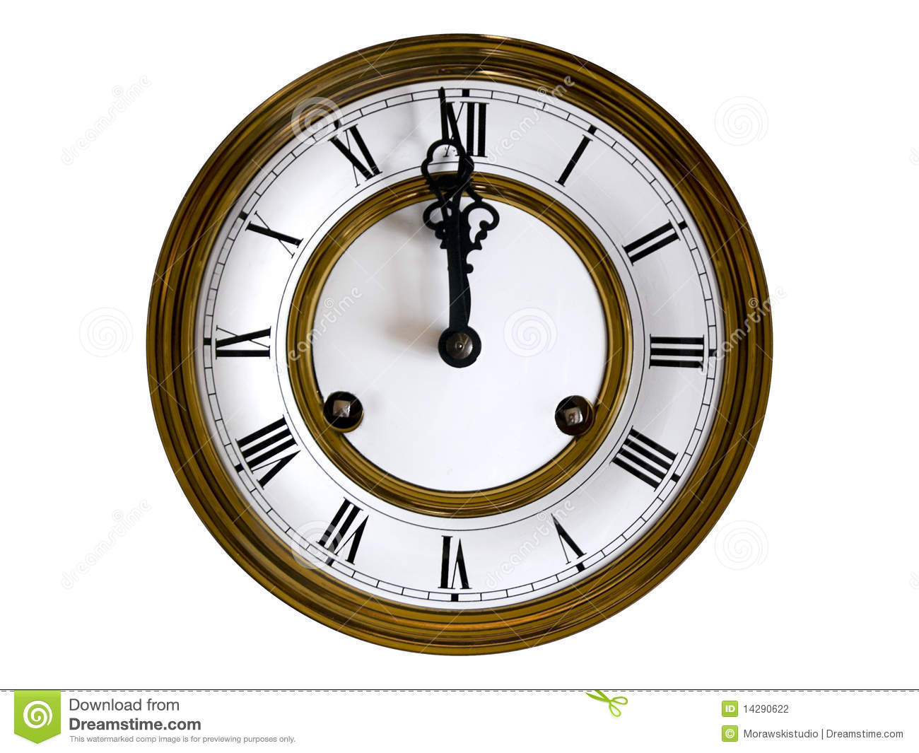 Old Fashioned Wall Clock Stock Photography Image 14290622