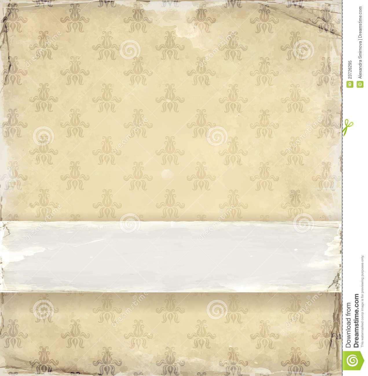 Old Fashioned Wallpaper Royalty Free Stock Photo