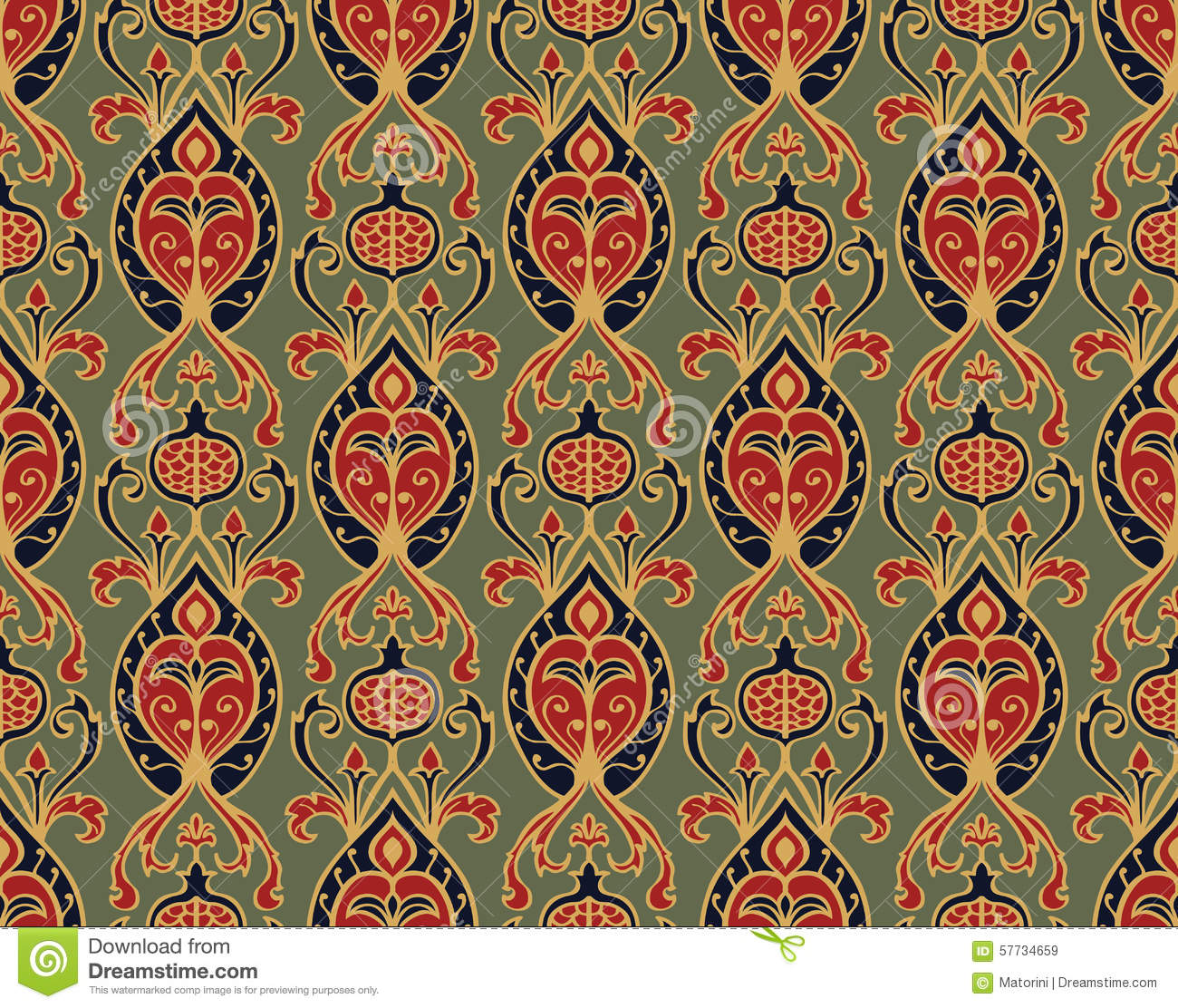oldfashioned wallpaper stock vector image 57734659