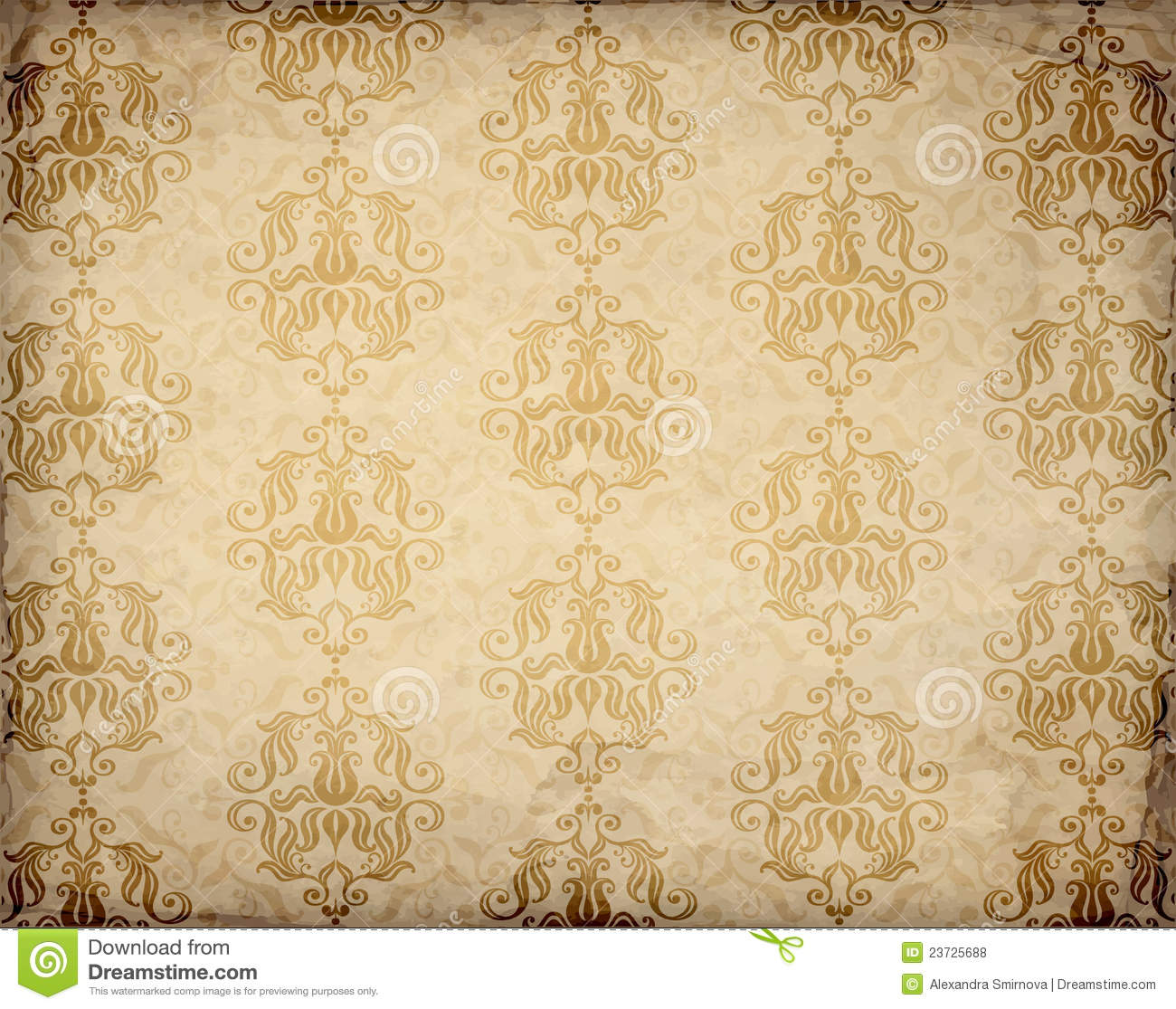 Old Fashioned Wallpaper Pattern Royalty Free Stock Photos