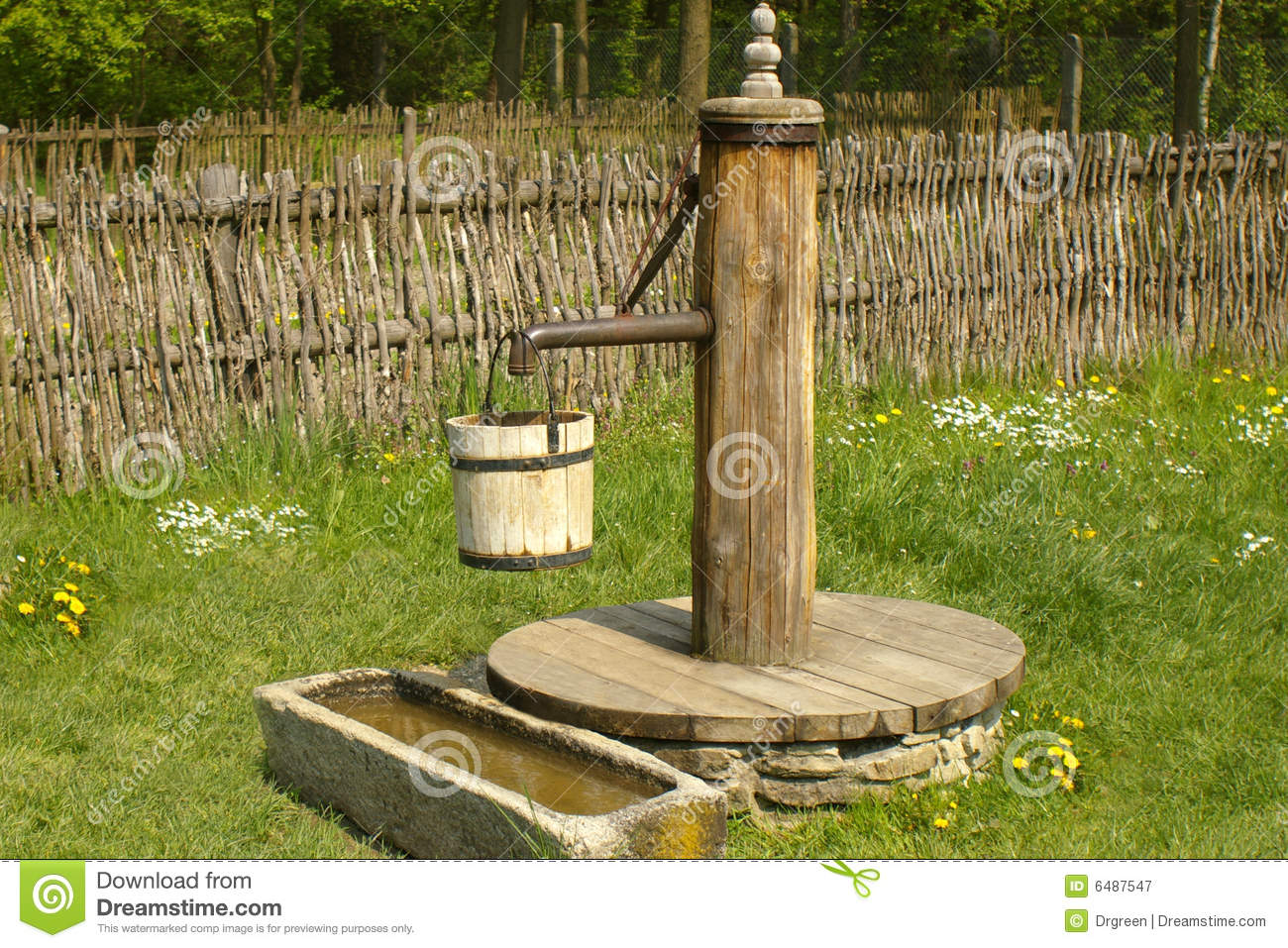 Old Fashioned Water Pump In A Village Stock Image Image