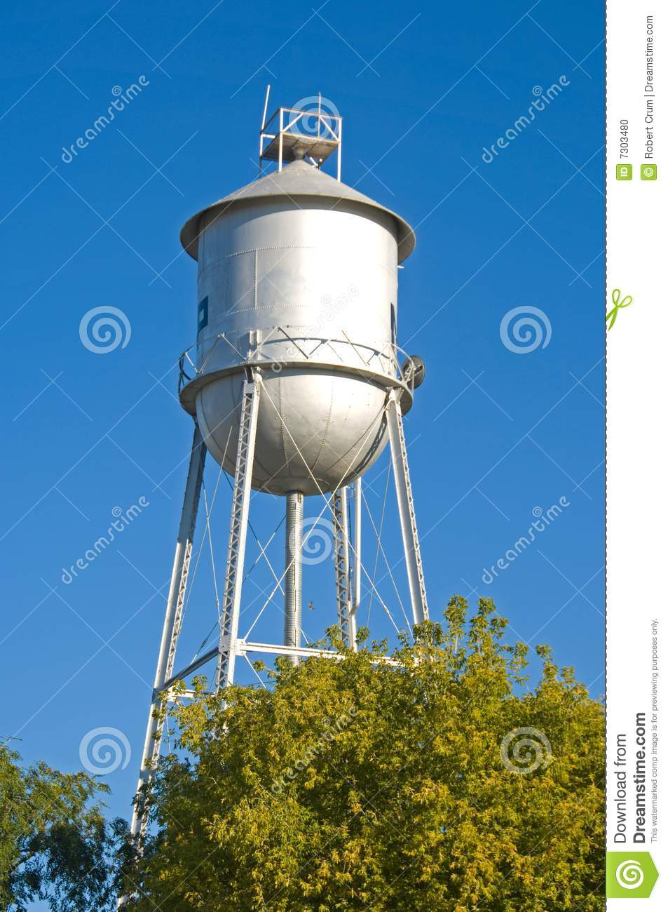Old Fashioned Water Tower Stock Photo Image 7303480