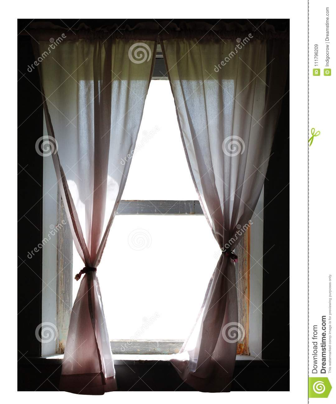 Download Old Fashioned Window And Curtains Stock Image