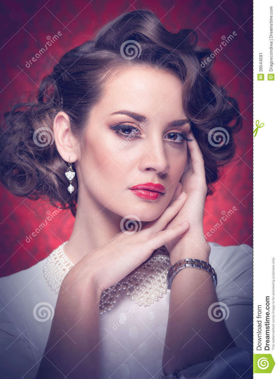 Old Fashioned Woman Toned Image Stock Image Image Of Curly Hair