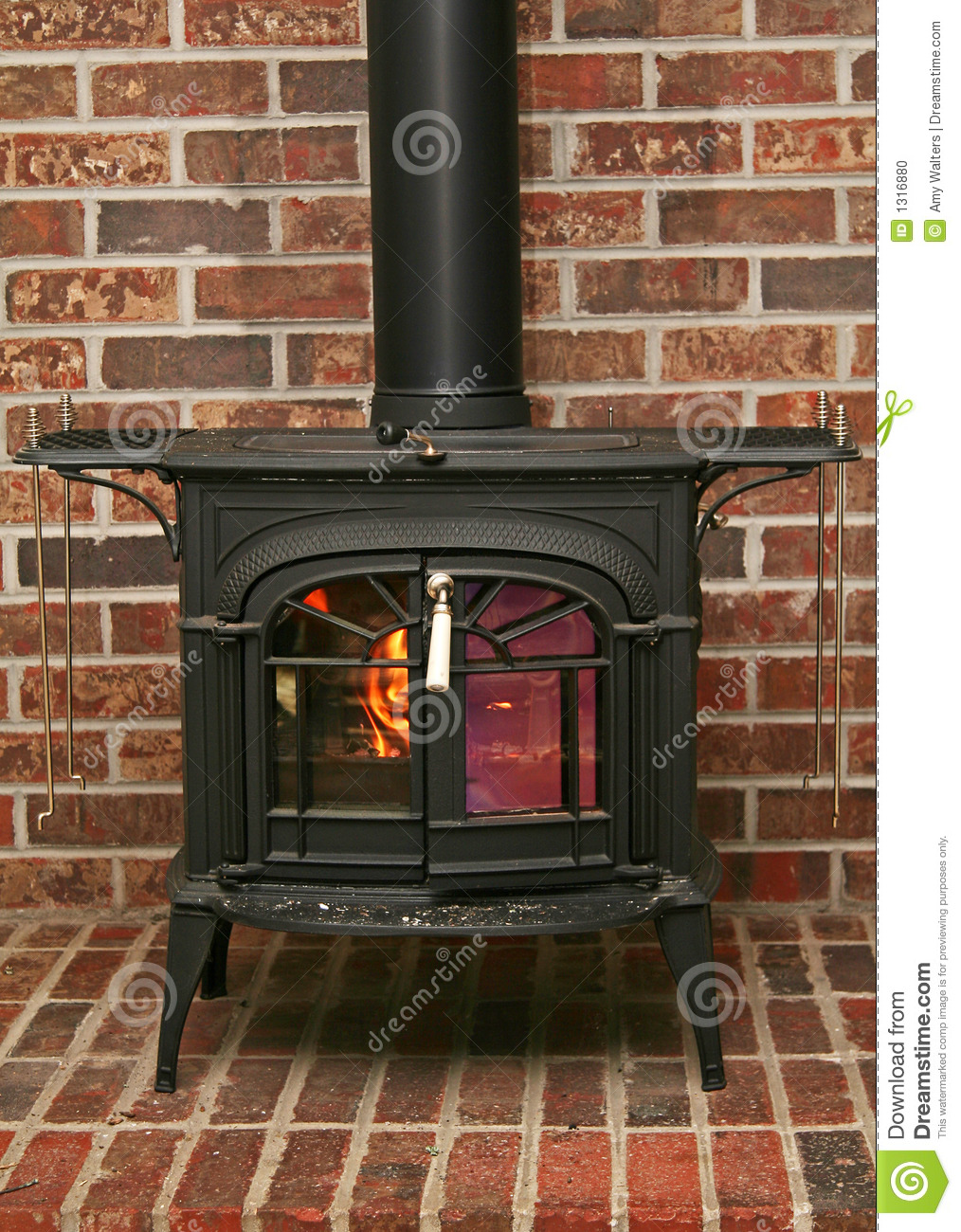 Old Fashioned Wood Burning Stove Stock Photo  Image 1316880