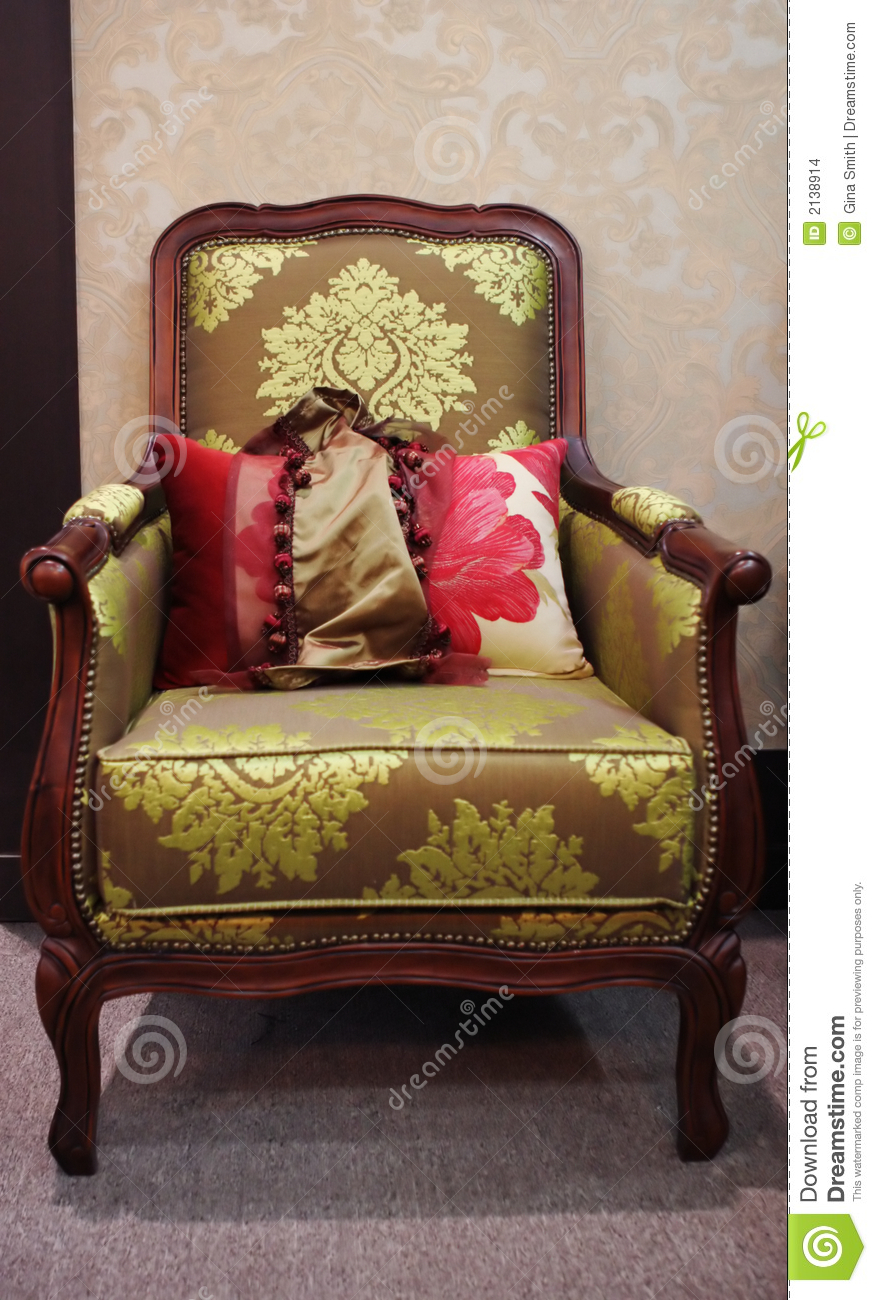 Old Fashioned Wooden Chair Stock Images Image 2138914