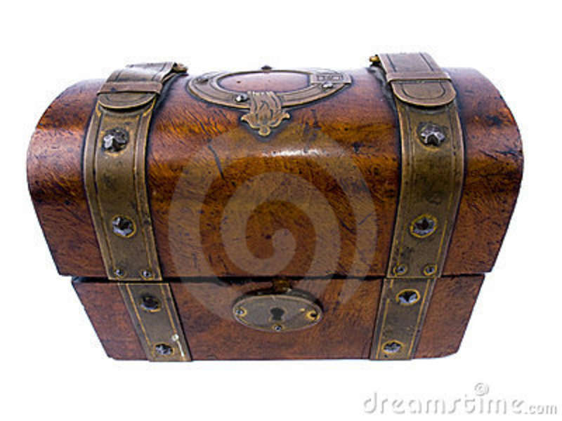 Old Fashioned Wooden Chest Stock Photo Image Of Antique