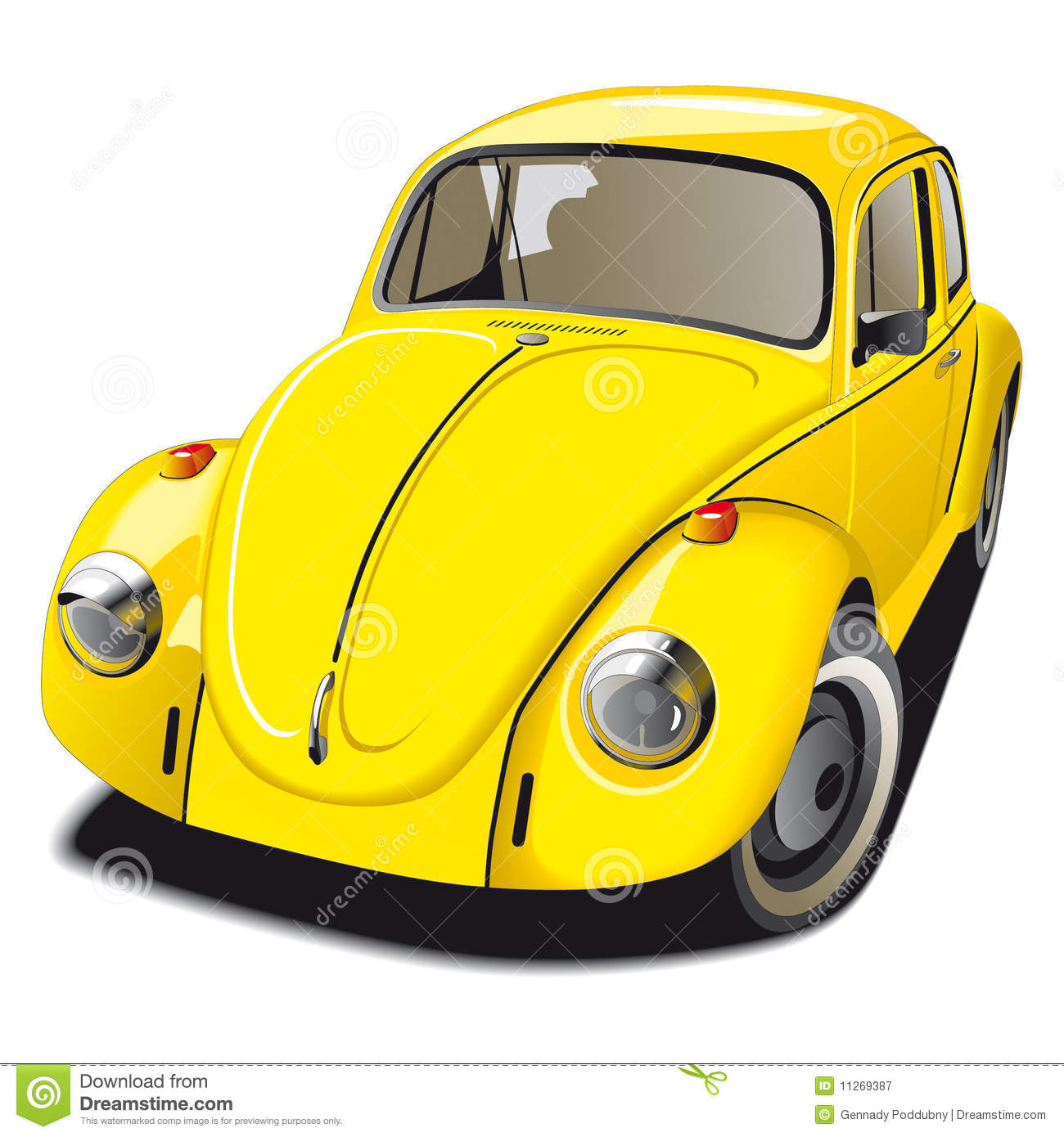Old Fashioned Yellow Car Stock Vector Illustration Of