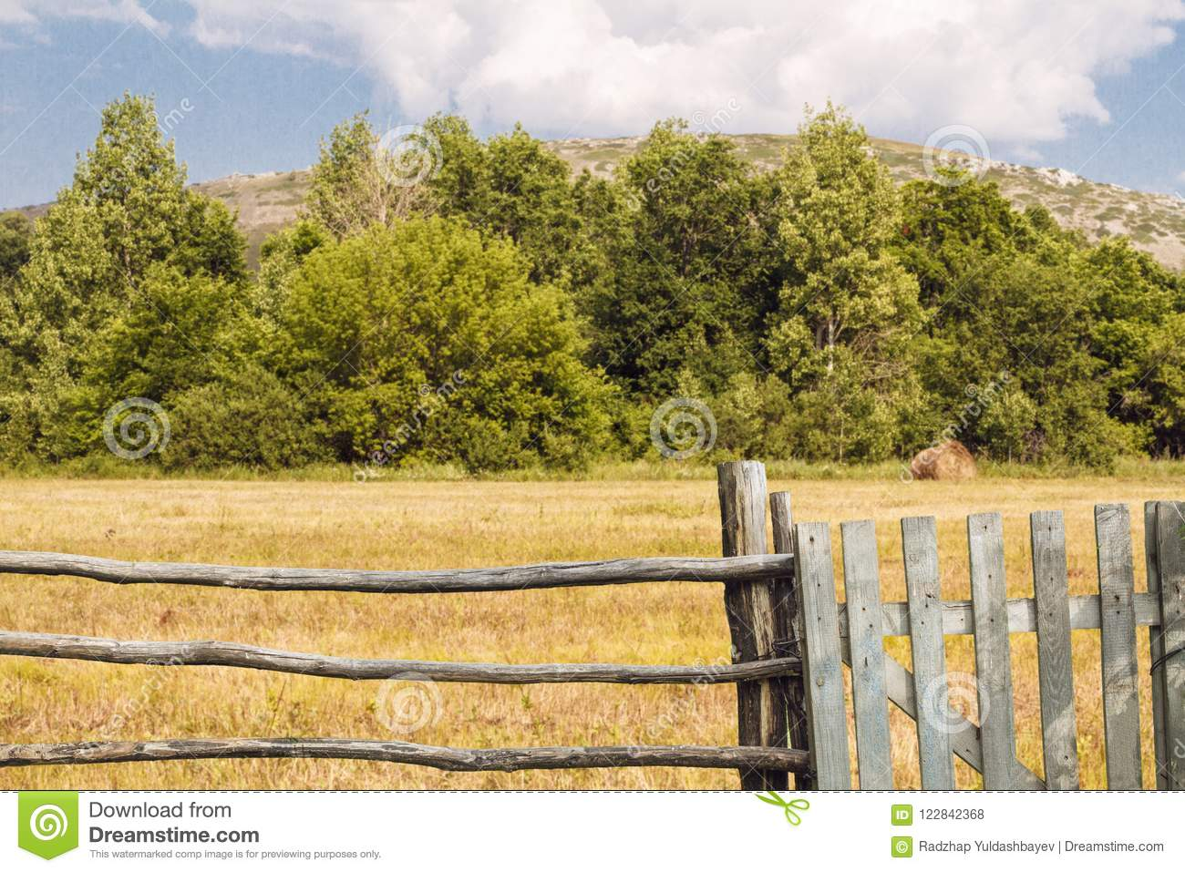 Fence Countryside Stock Photos Royalty Free Stock Images