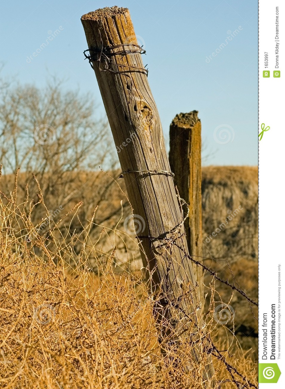 Old Fence Post Royalty Free Stock Photography - Image: 1653997