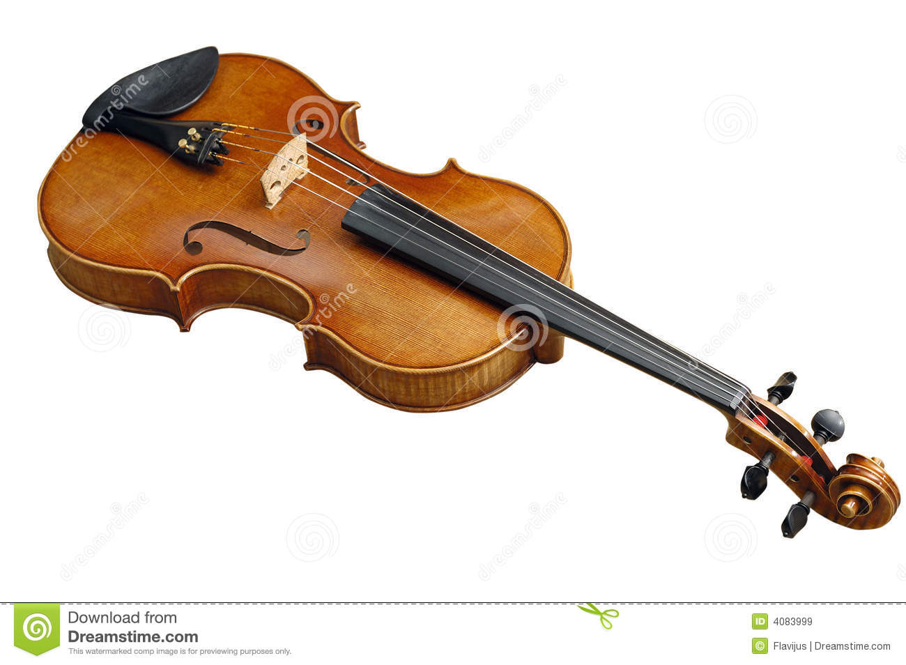 Old Fiddle With Path Royalty Free Stock Images - Image: 4083999