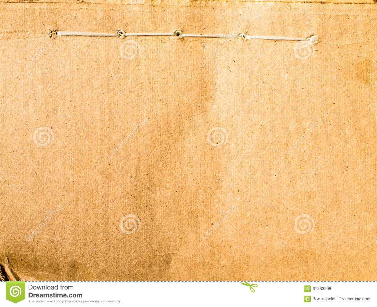 old filing folder cover with binding stitches stock photo image of