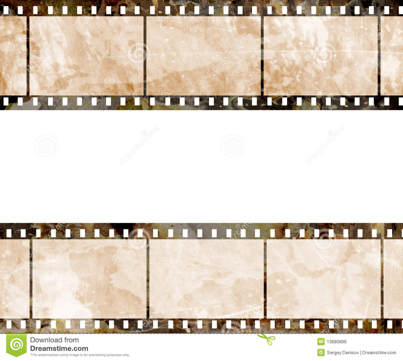 Old Film Strip Royalty Free Stock Image - Image: 13680896