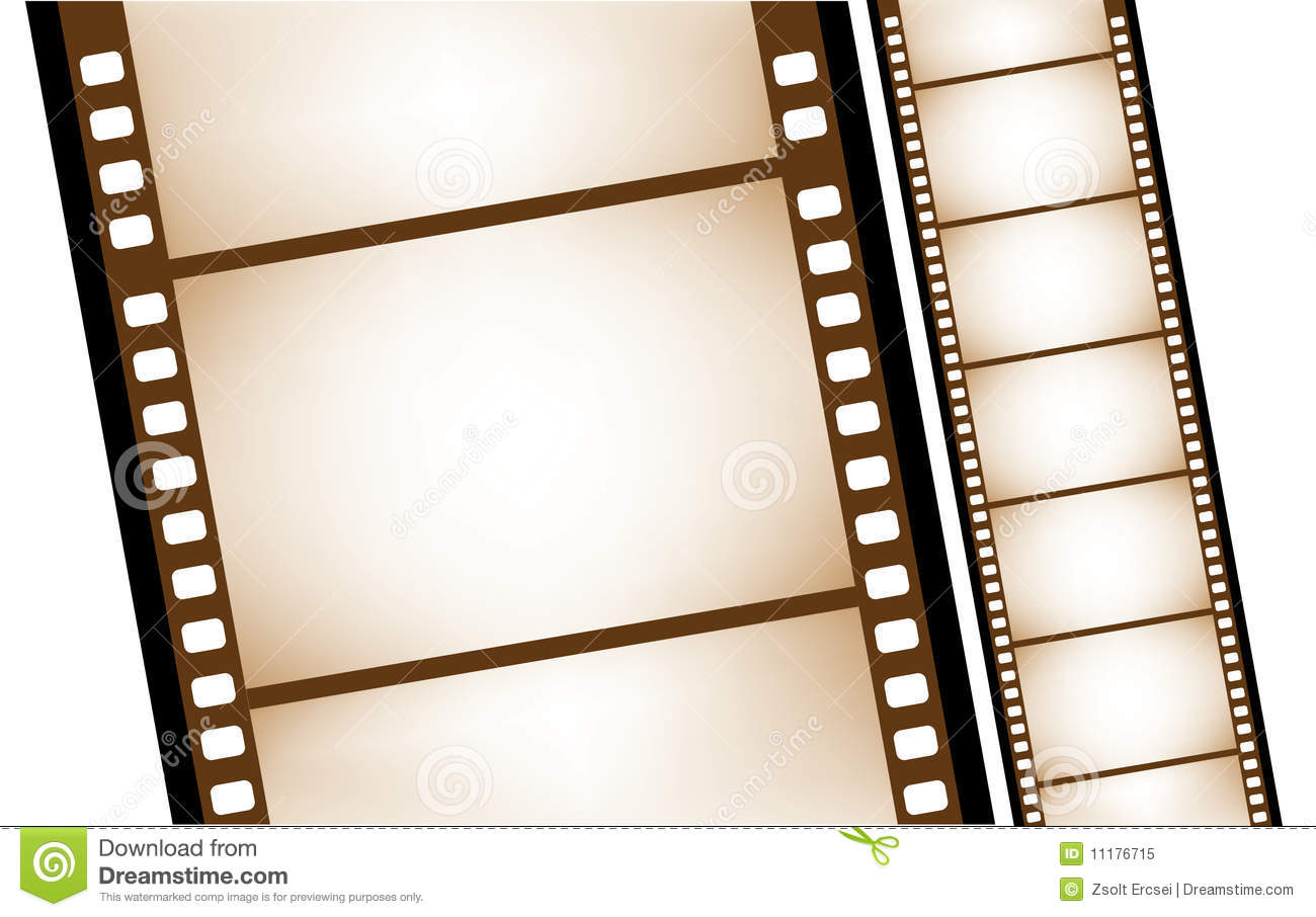 Old Filmstrip In Vector Royalty Free Stock Photo - Image