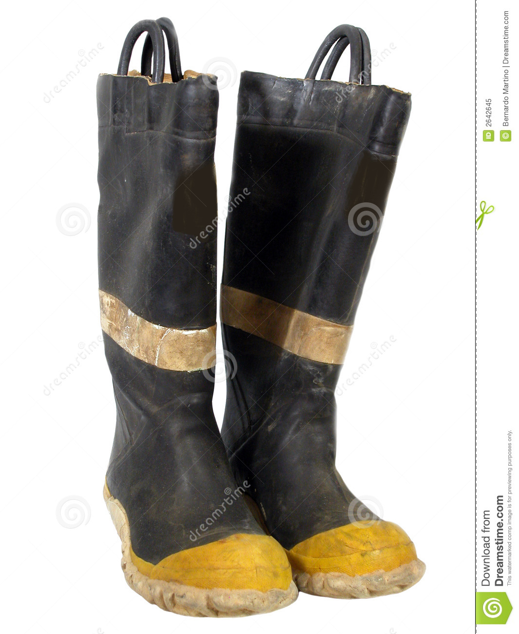 Old Fire Boots Stock Image Image Of White Waterproof