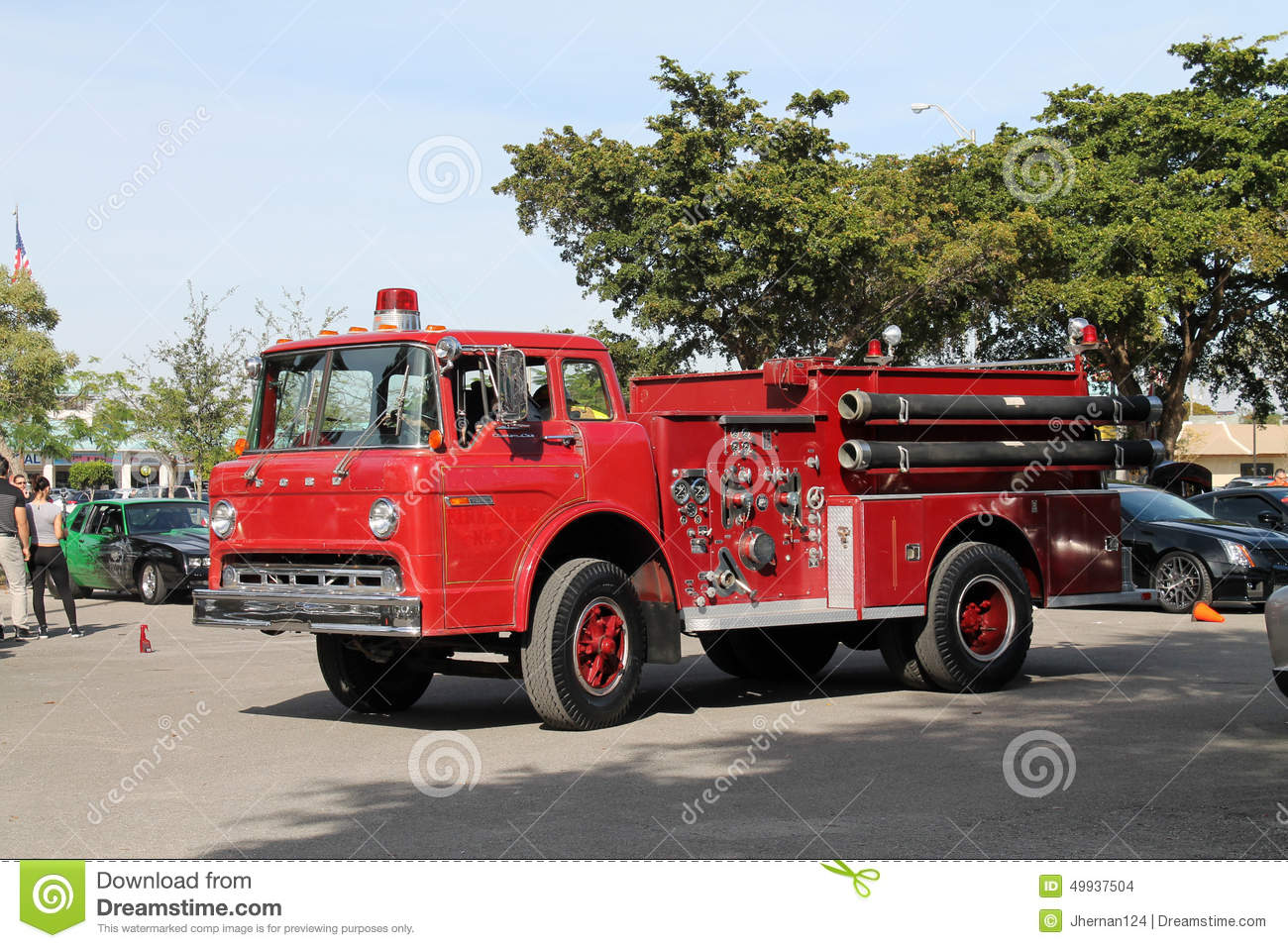 Old Fire Engine Editorial Stock Image - Image: 49937504