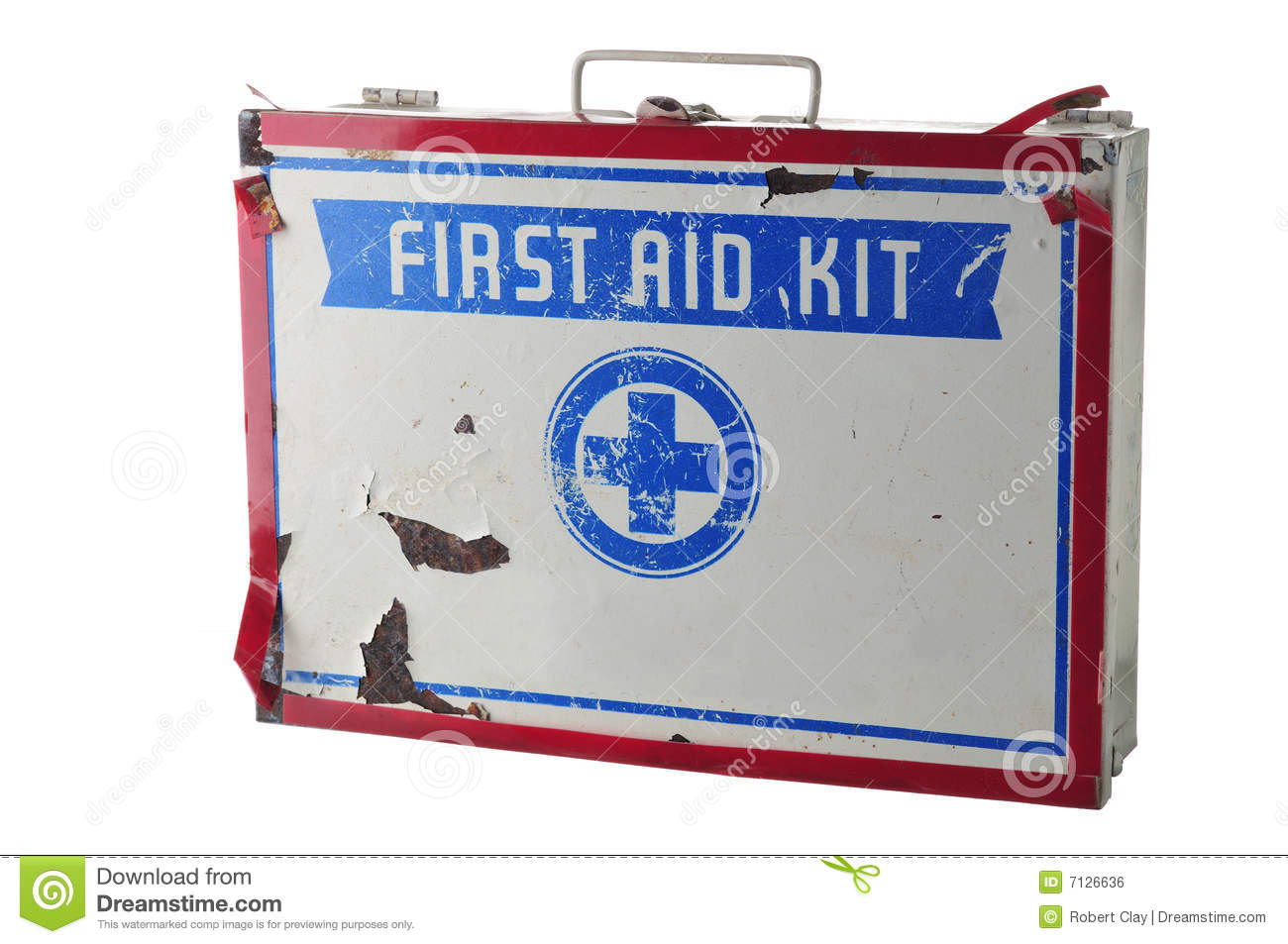 old first aid kit stock photo image of cross grungy 7126636