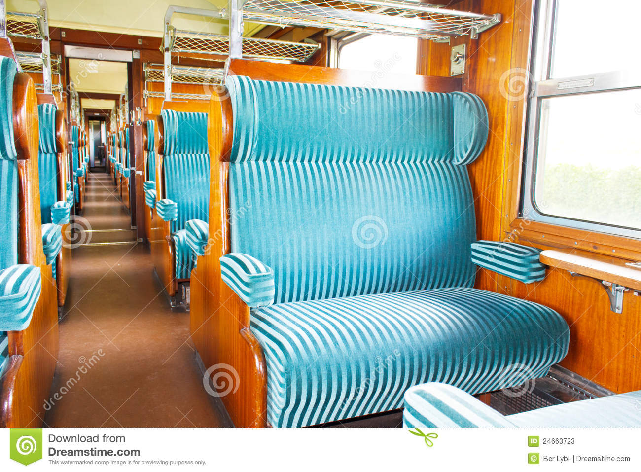 Old First Class Wagon Cabin Stock Image Image 24663723