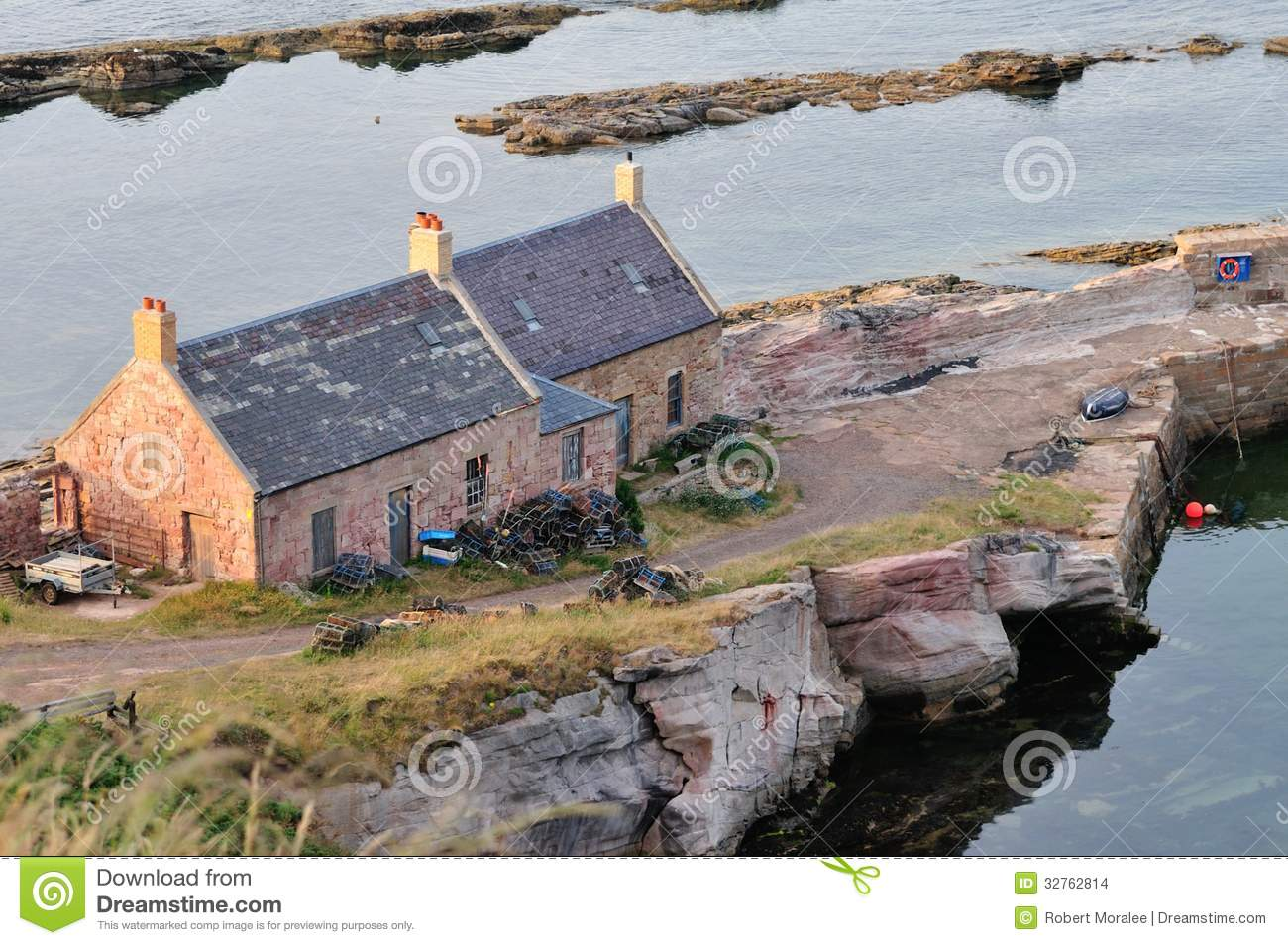 Old fishermans cottages near a small harbour stock photo image 32762814 - The fishermans cottage ...