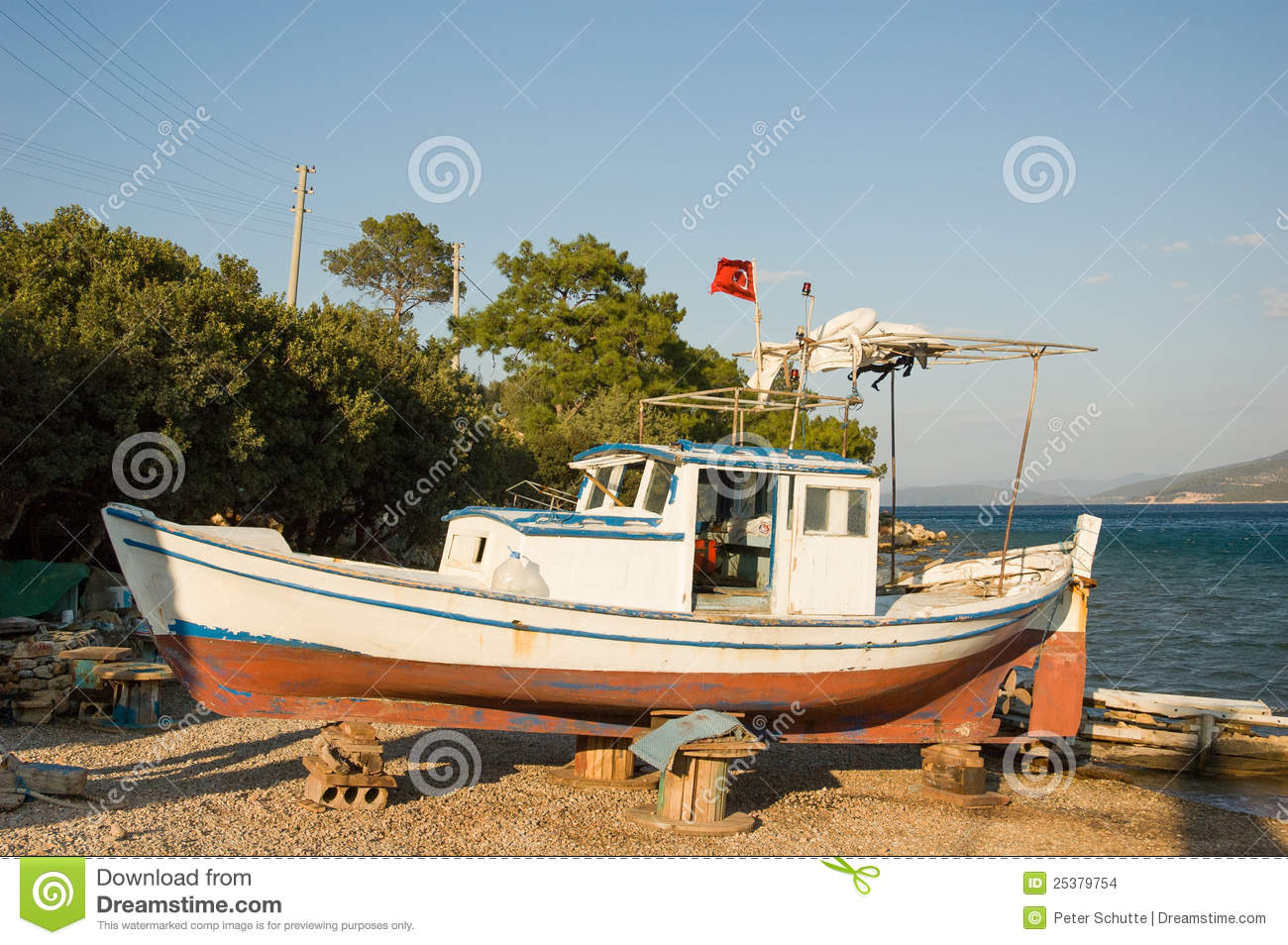 Old fishing boat stock images image 25379754 for Old fishing boat