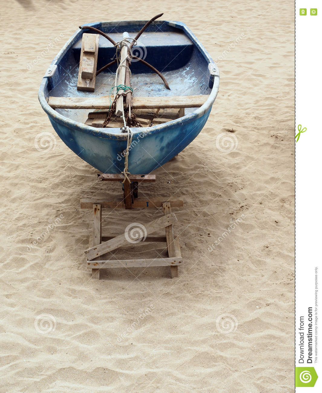 Old Fishing Boats On Beach: Old Fishing Boat With Anchor Playa Las Canteras Beach Las